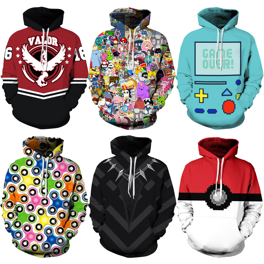 Sincere Women Hoodie Casual Long Sleeve 3d Jellyfish Printing Falling Shoulder Hooded Sweatshirts Female Jumper Women Tracksuits Hoodie Pretty And Colorful Women's Clothing