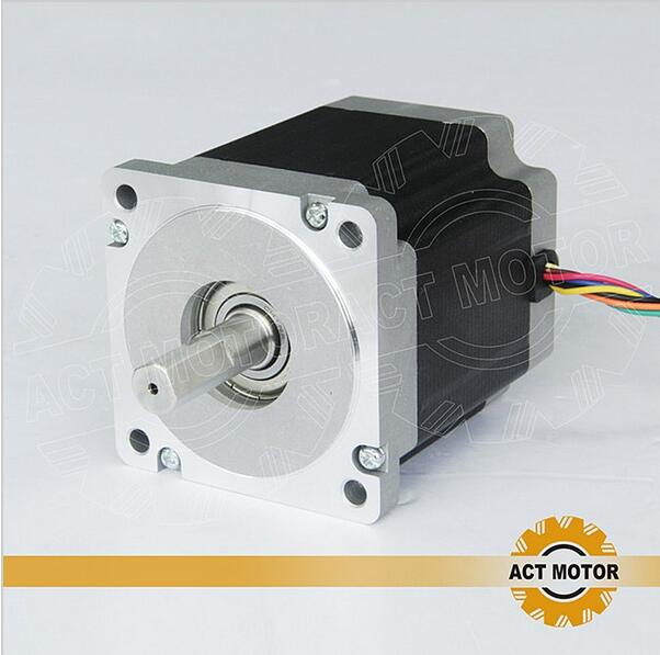цена на ACT Motor 1PC Nema34 Stepper Motor 34HS9820 890oz-in 98mm 2A 8-Lead Single Shaft CE ISO ROHS US CA DE UK JP Free