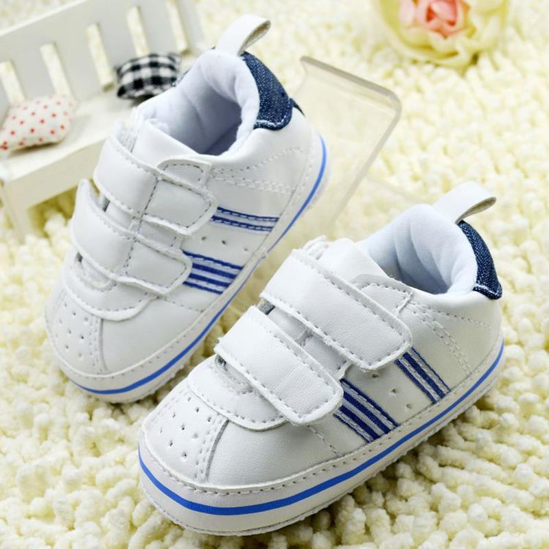 2018 New Toddler Shoes First Walkers Kids Sport Shoes For Boys White Children Shoes Baby Boys New