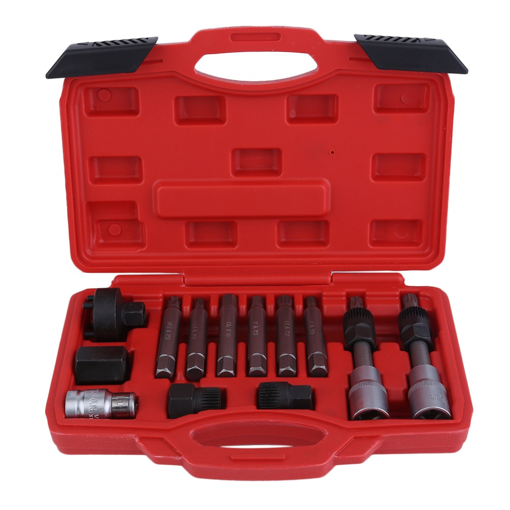 13Pcs/Set Automotive Cars Alternator Pulley Installation Puller Flywheel Removal Remove Tool Engine Auto Set