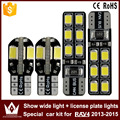 2pcs show wide light canbus 5730 8smd led + 2pcs license plate lights Special car2835  12smd led kit for toyota  RAVA(2013-2015)