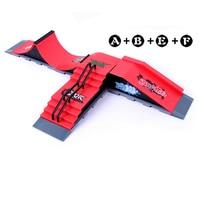 Free Shipping Model A+B+E+F Mini Ramp Finger Skateboard Park Tech Deck Skate Park Includes 4 Finger Board