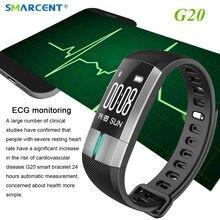Smarcent G20 Приборы для измерения артериального давления Смарт Браслет ЭКГ Дата мониторинга браслет pulsometro Фитнес трекер SmartBand IP67