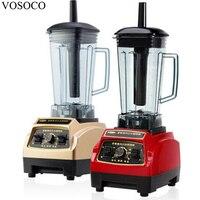 VOSOCOBlender Mixing Machine Ice Crusher Sand Ice Machine Mince Meat Milkshake Soybean Milk Juicer 2L 1600W