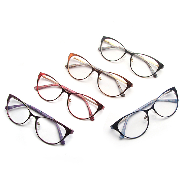 High End Diamond Insert Cat Eye Optical Frame