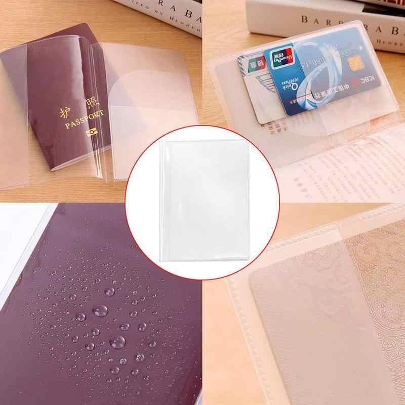 شفاف غطاء جواز سفر مقاوم للماء وثيقة حقائب جواز سفر كم واقية إكسسوارات السفر