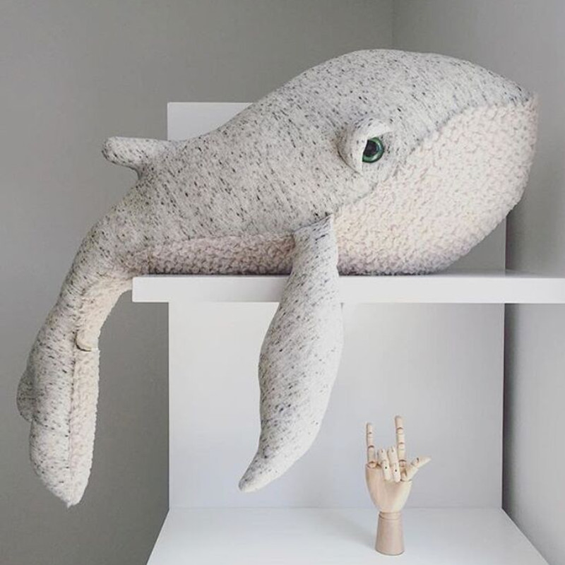 Big Cute Animals Dolphin Octopus Cushion Pillow Stuffed Plush Dolls Calm Sleep Toys Nordic Style Kids Photo Props Bed Room Decor bookfong octopus plush toys dolls the cute pillow seat cushion backrest the stuffed toys for children christmas gifts