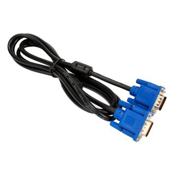 6FT 1.8M VGA Male to Male Cable SVGA Monitor Cord Blue Plug for PC Computer VGA Display Cable high quality 1 male vga to 2 female vga splitter cable 2 way vga svga monitor dual video graphic lcd y splitter cable