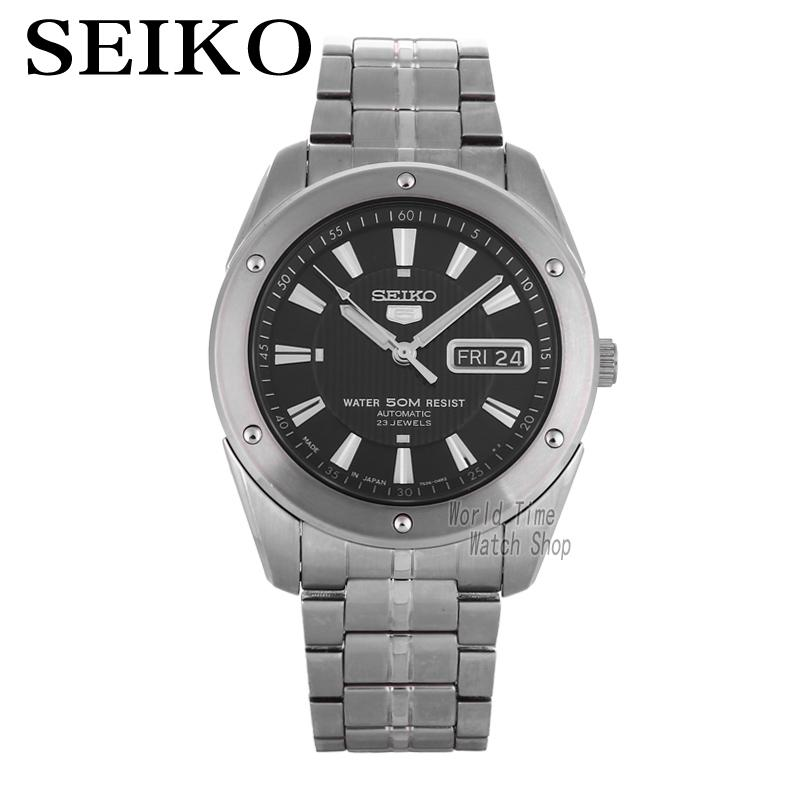 Seiko оградить нет. 5 Бизнес неделю Календари Сталь группа автомат мужской часы SNKE01J1 SNZF36J1 SNZF35J1