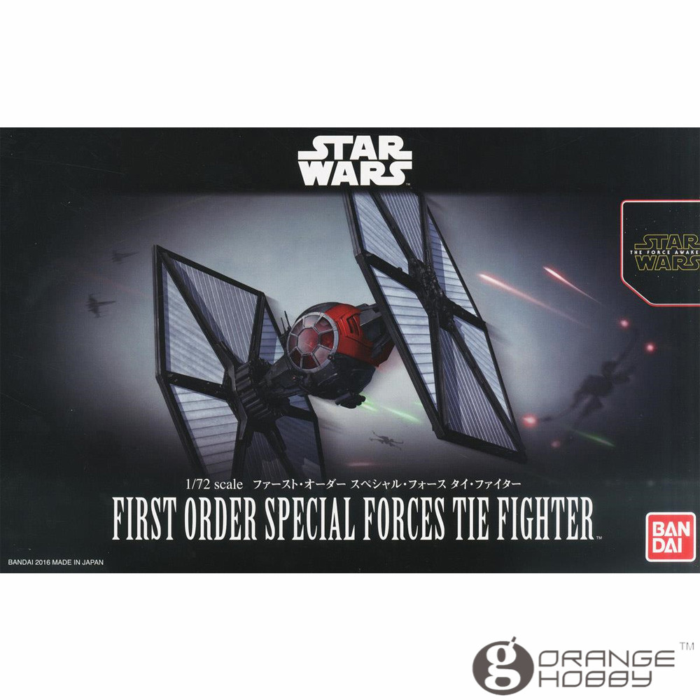 цены OHS Bandai Star War TFA 1/72 First Order Special Forces Tie Fighter Assembly Model Kits oh