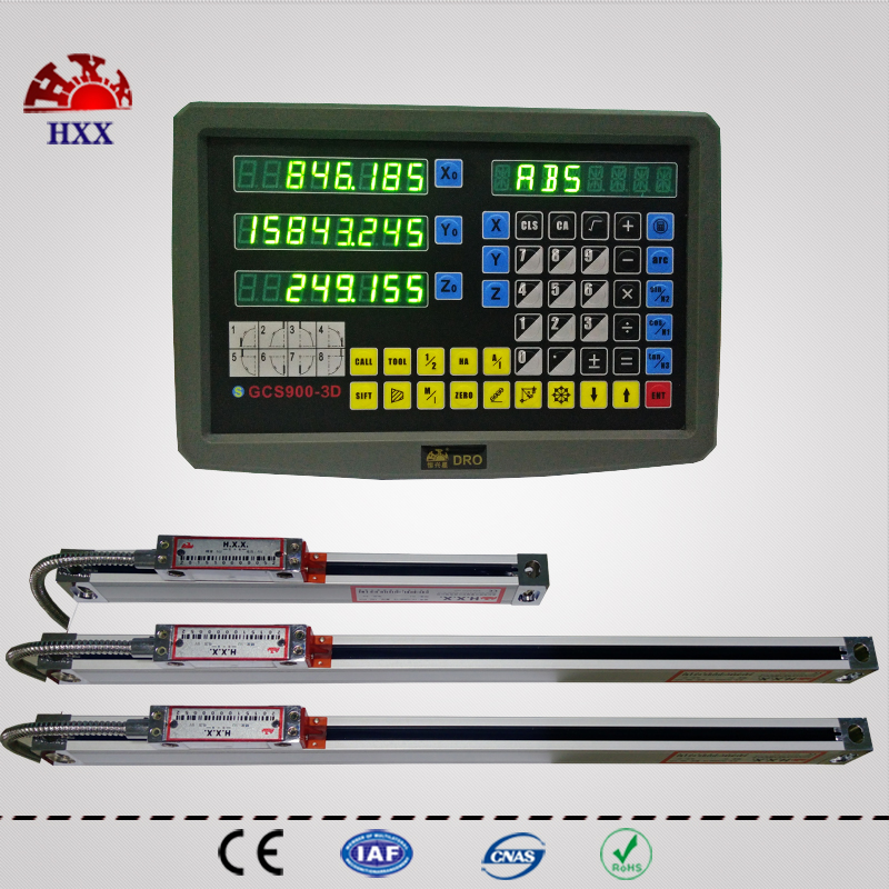 hxx new 3 axis dro kit digital readout display and 3 pcs 5u 2 inch to 40 inch linear glass scale/sensor/encoder for all machines complete set 3 axis milling machine linear glass scale and digital readout dro
