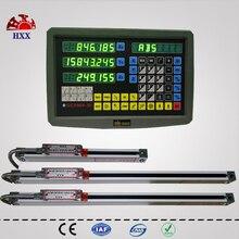 Hxx neue 3 achsen dro kit digitalanzeige display und 3 stücke 5u 2 zoll bis 40 zoll lineare glas skala/sensor/encoder für alle maschinen