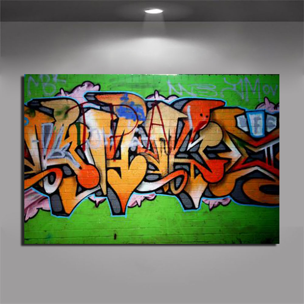 Us 9 79 30 Off Graffiti Poster Abstract Graffiti Prints On Painting Modern Jet Grind Radio In Green Home Decoration Wall Art Picture Unframed In