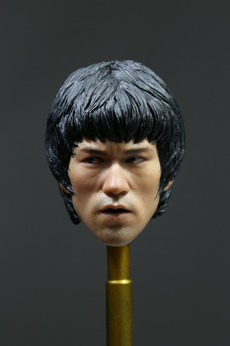 """ФОТО 1/6 scale figure doll head for 12"""" action figure doll accessories.bruce lee"""