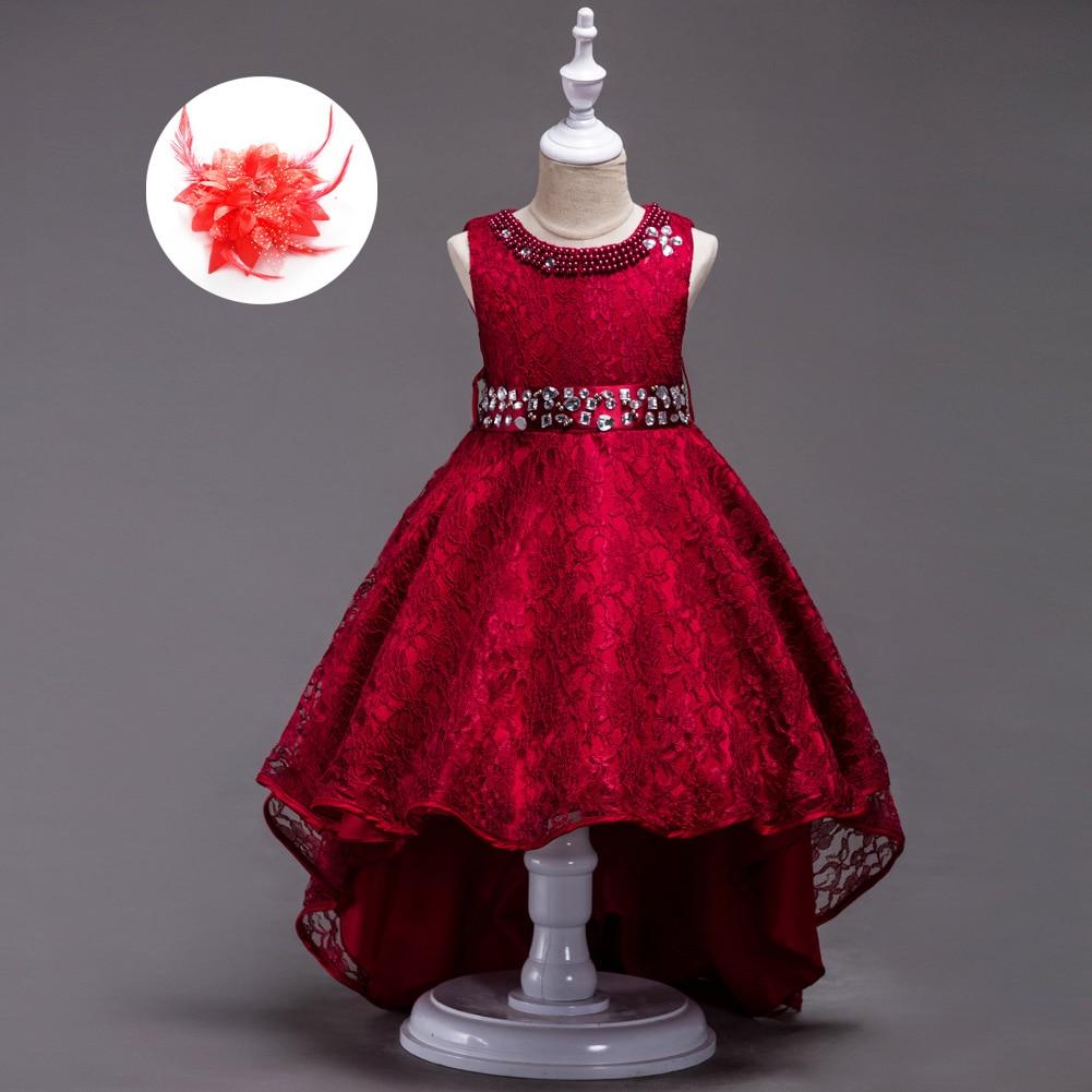 Us 20 61 30 Off Renda Gadis Pakaian Putri Anak Merah Biru Hitam Merah Marun Ulang Tahun Gaun Pesta Untuk Anak Perempuan Anak Rompi Pakaian