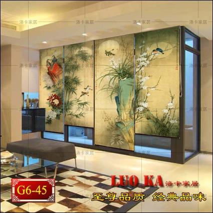 Chino feng shui cortina del obturador tela comedor dormitorio sala ...