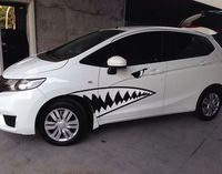 2pcs Auto Car 3D Funny Big Shark Car Style Badge Decal Motorcycle Stickers Chrome Emblem Full