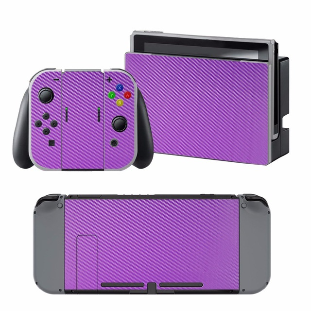 Carbon Fiber Sticker Vinly Skin Sticker Cover Protective for Nintendo Nintend Switch NS Console Protector Cover Decal Vinyl Skin 3