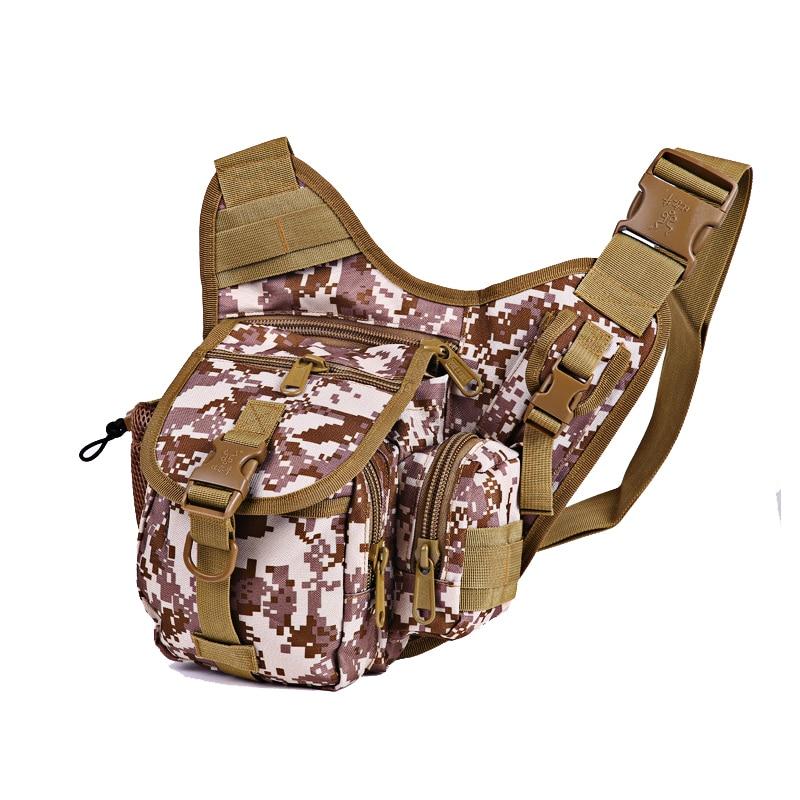 Hennoy vodotěsný rybářský vak multifunkční návnada rybaření 17cm * 20cm * 8cm balení pack Camouflage venkovní taška přes rameno