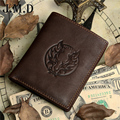 Freeshipping! 2015 new men's wallet vintage dragon style genuine leather short man purse multi-card billfold Money Clips