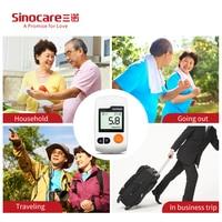 Sinocare Sannuo GA-3 25 шт. глюкозы в крови Тесты полоски бутылках шт. и Ланцеты для диабетический тестер сахара в крови метр