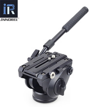 INNOREL H80 Hydraulic Fluid Tripod Head Panoramic Video for Camera Tripod Monopod Slider Stabilizer with Quick Release Plate