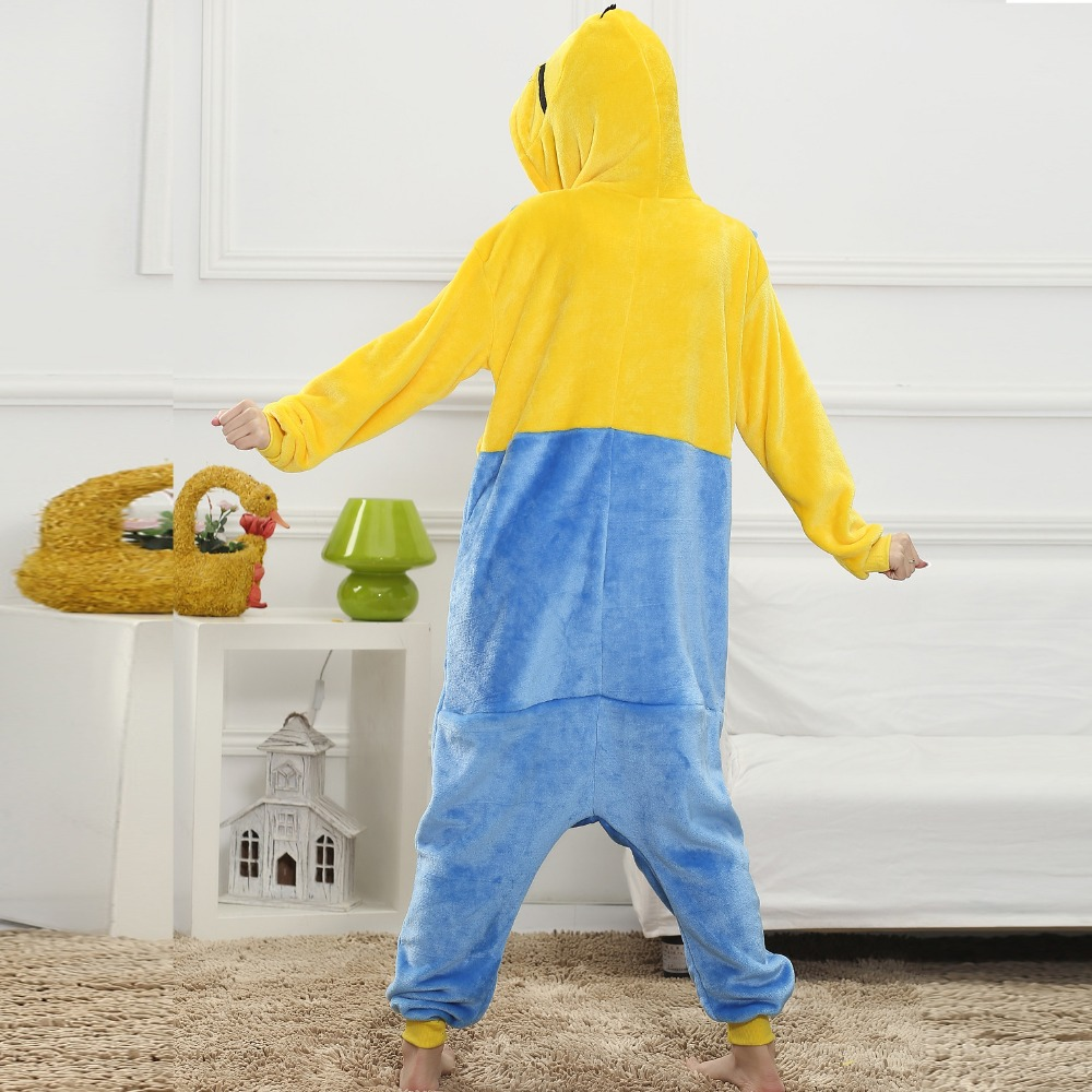 Minions Onesie Animal Kigurumi Pajamas Adult Sleep Winter Costume Kawaii Women Overall Halloween Party Soft Flannel Jumpsuit  (2)