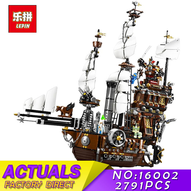 Pirate Ship Metal Beard's Sea Cow Model LEPIN 16002 2791pcs Building Blocks Kids Bricks Toys for Children Boys Gift Compatible