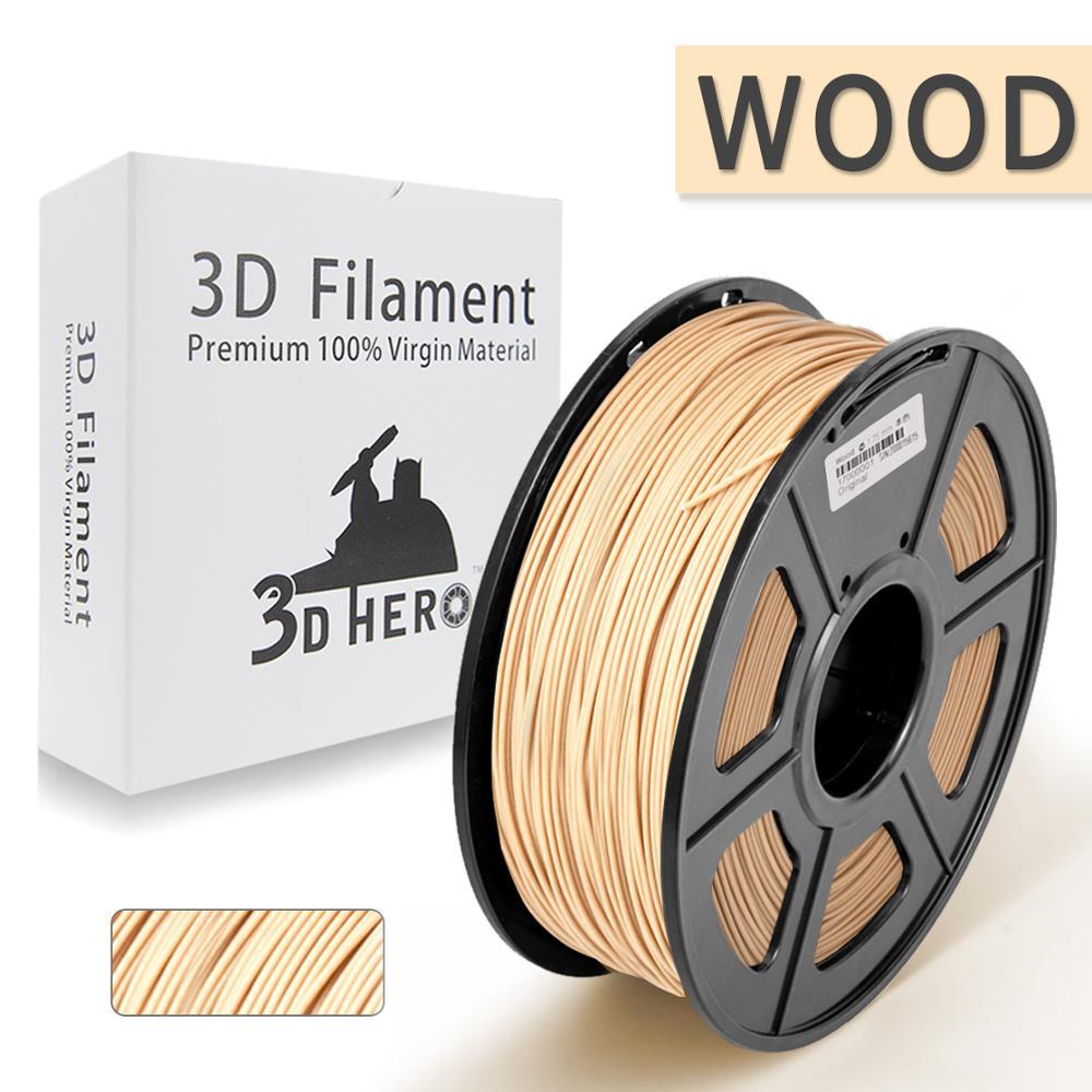 Neue Diy Geschenk 3d Drucker Holz Faser Filament 1,75mm 1 Kg/roll 2.2lb Holz Effekte Ähnliche Mit Pla Real Wie Holz Farbe Kann Wiederholt Umgeformt Werden. 3d Druck-materialien Computer & Büro