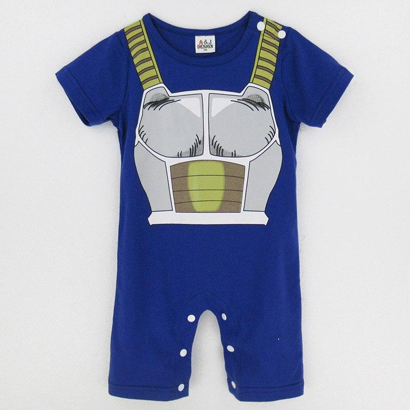 Baby Boys Dragon Ball Z Vegeta Costume Romper Funny Infant Onesie
