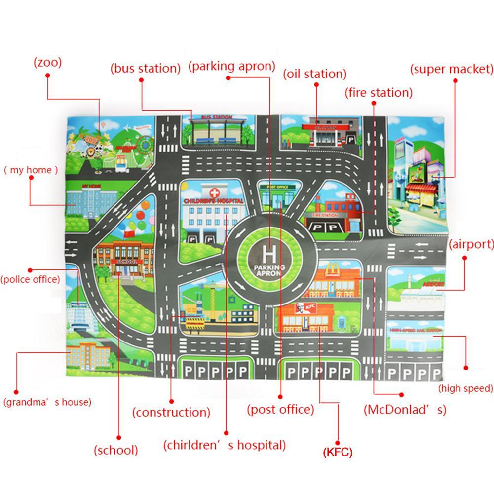 Children DIY Car Parking Map Toys 83 x 58CM Baby Climbing Playing Mats Kids Toys City Children DIY Car Parking Map Toys 83 x 58CM Baby Climbing Playing Mats Kids Toys City Parking Lot Roadmap Map English Version