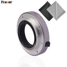 Travor MET-S2 For Canon DSLR Cameras 3 pieces Set Auto metal Extension Tube MET-C6 with 2pcs Microfiber Lens Cloth