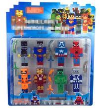 Minecraft Avengers Hero Iron Men Captain America Hulk Overworld Hangers Accessories Toys Star Wars Darth Vader