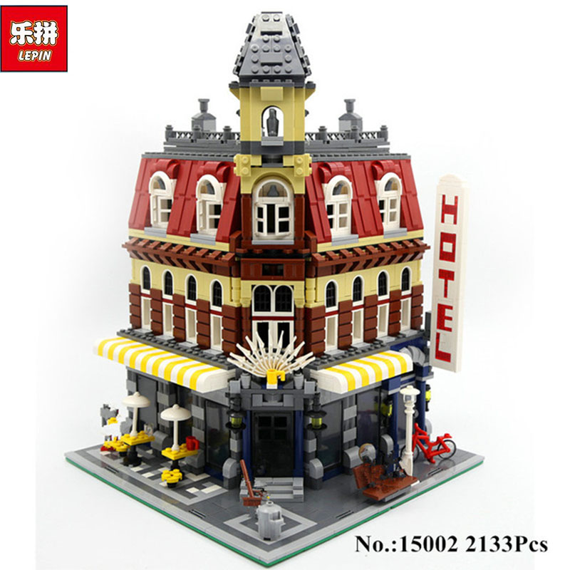 2017 New 2133Pcs LEPIN 15002 Cafe Corner Model Building Kits Blocks Kid DIY Educational Toy Children day Gift brinquedos 10182 new lepin 15002 2133pcs cafe corner model building kits blocks kid diy educational toy children day gift brinquedos 10182