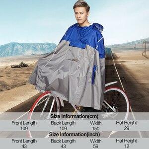 Image 5 - QIAN yağmur geçirmez geçirimsiz açık moda yağmur panço sırt çantası yansıtıcı bant tasarım tırmanma yürüyüş seyahat yağmur kılıfı
