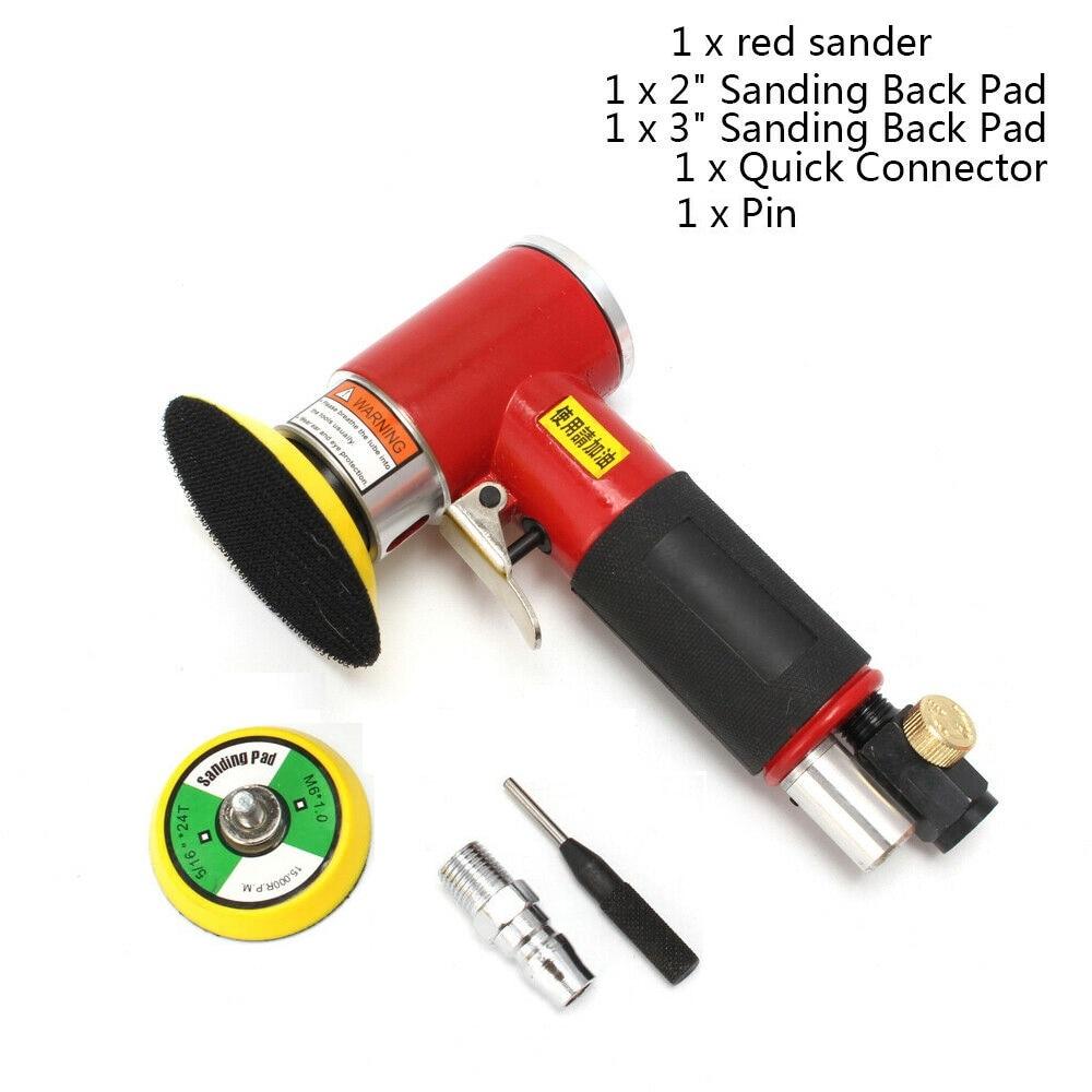 Auto Pad Polisher Pneumatic 2inch Body Orbital Sander Kit For Air 3inch Polishing Dual Action Buffing Mini Eccentric Tools