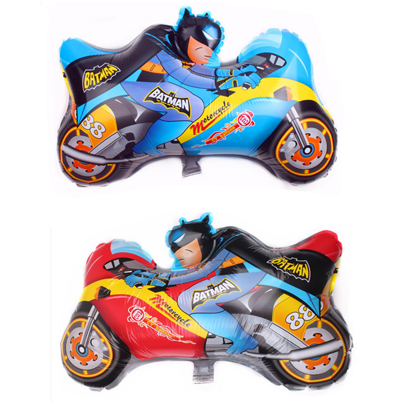 65cm*46cm Motorcycle Batman Foil Balloons Birthday Decoration Party Supplies Classic Inflatable Toy Globos Air Balloon