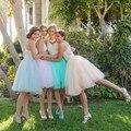 2016 Nova Moda Festa de Casamento Da Dama de honra Tulle Saias Na Altura Do Joelho Saia Tutu Saias Das Mulheres Nova Moda Vestido De Noite Midi