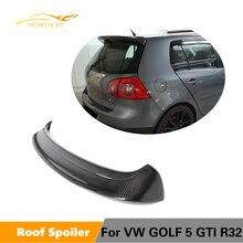 Спойлер на заднюю крышу автомобиля для Volkswagen VW Golf 5 V MK5 R32 GTI 2006-2009 углеродное волокно/FRP спойлер на заднее стекло