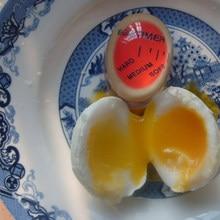 Minuterie d'œufs en résine   1 couleur changeante, minuterie d'œufs, matériau de résine œufs parfaitement bouillés par température, aide de cuisine, minuterie d'œufs, outils de minuterie rouge