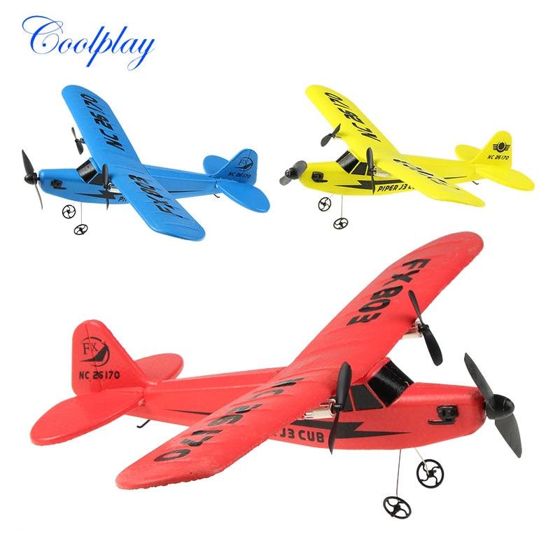 все цены на Hot Sale RC Plane RTF 2CH FX803 HL803 EPP Material RC Airplane Model RC Glider Drones Outdoor Toys For Kid Boy Birthday Gift }