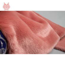 High plush density 2cm long hair pink faux fur fabric for winter coat,vest faux rabbit hair fabric 150*50cm 1piece SP3034(China)