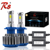 R8 High Power Z4 80W 8000LM Car Headlight Foglight H4 H7 H8 H11 9005 9006 9003 HB2 Models 6500K White LED Bulb Lamp For Toyota