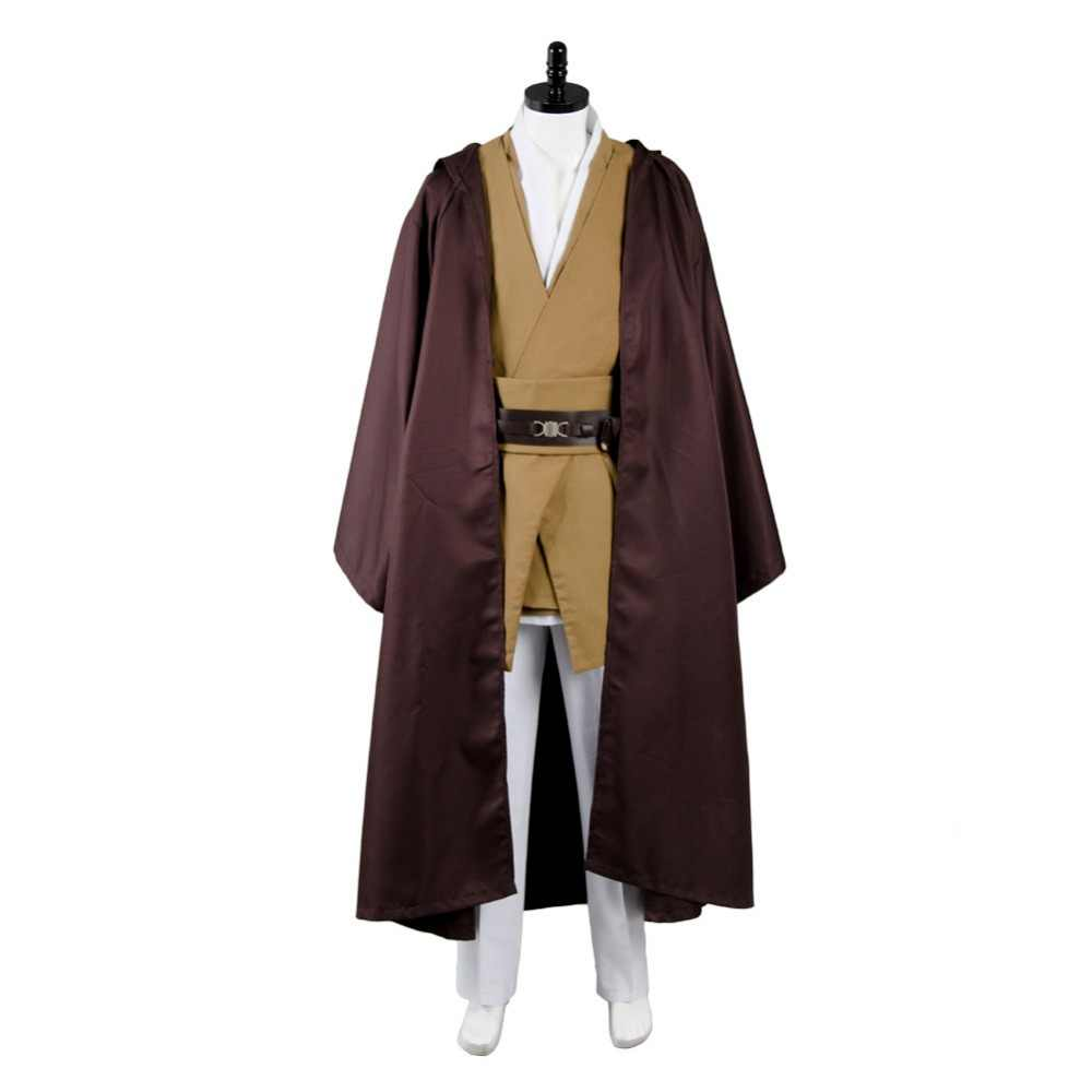 Ster Foelie Windu Tuniek Cosplay Kostuum Outfit Superhero Halloween Carnaval Kleding Party Ball Custom Made Adult Volledige Set