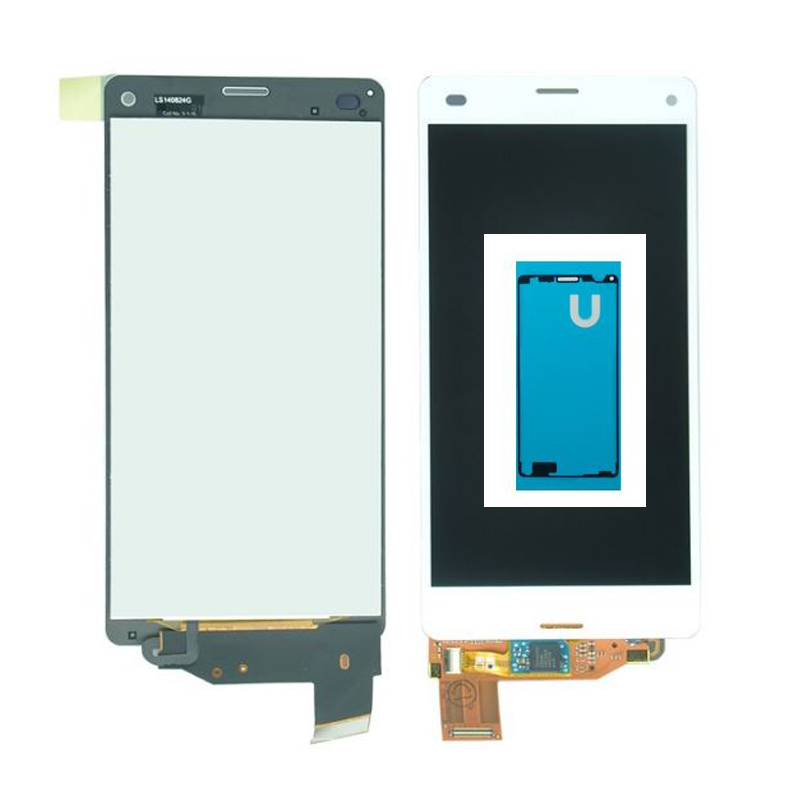 ФОТО For Sony Xperia Z3 compact Z3 mini D5803 D5833 LCD Display with Touch Screen Digitizer Assembly +adhesive Sticker Free shipping