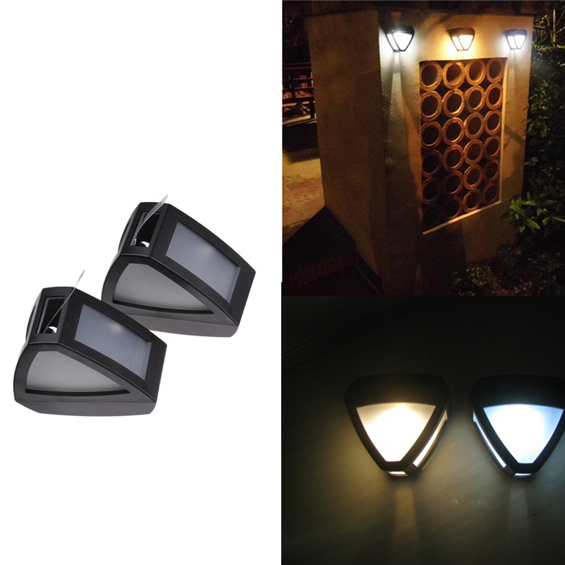 LED Solar Power Lamp Wall Light Outdoor Waterproof Energy Saving Street Yard Path Home Garden Security Lamp