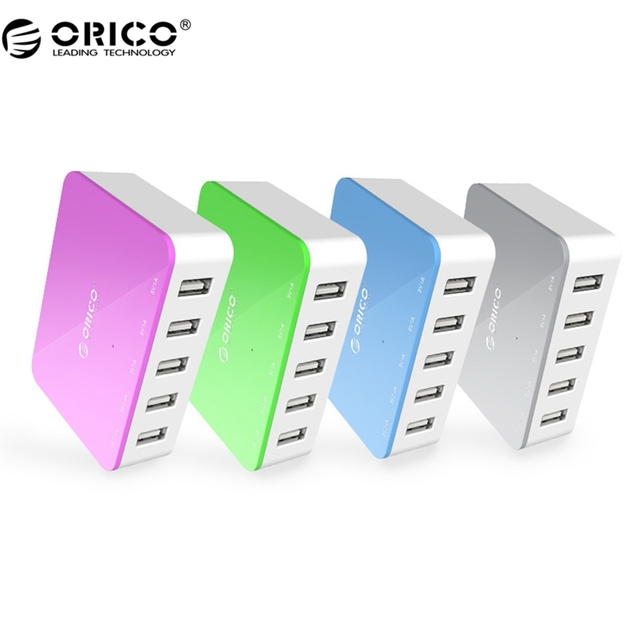 ORICO CSA-5U Good Quality 5 Port Smart USB Charger Colorful For Your Phone/Pad