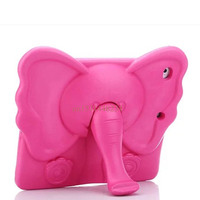New Child Shockproof Cover For IPad 5 IPad 6 3D Cute Elephant Nose Stand Case For
