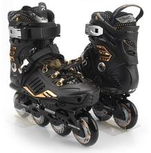 Roadshow RX6 Slalom Inline Skates Golden Adult Skating Shoes Black White 85A PU Wheels For Free Skating Sliding Street Skating