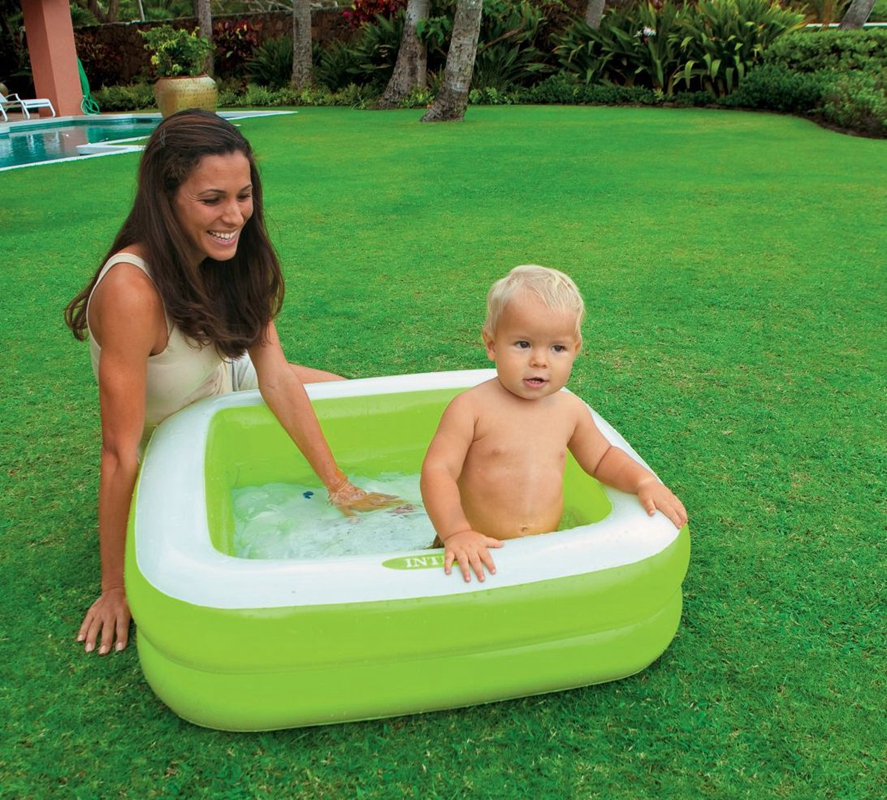 2 color options family kids tub Portable Inflatable 2layers swimming ...